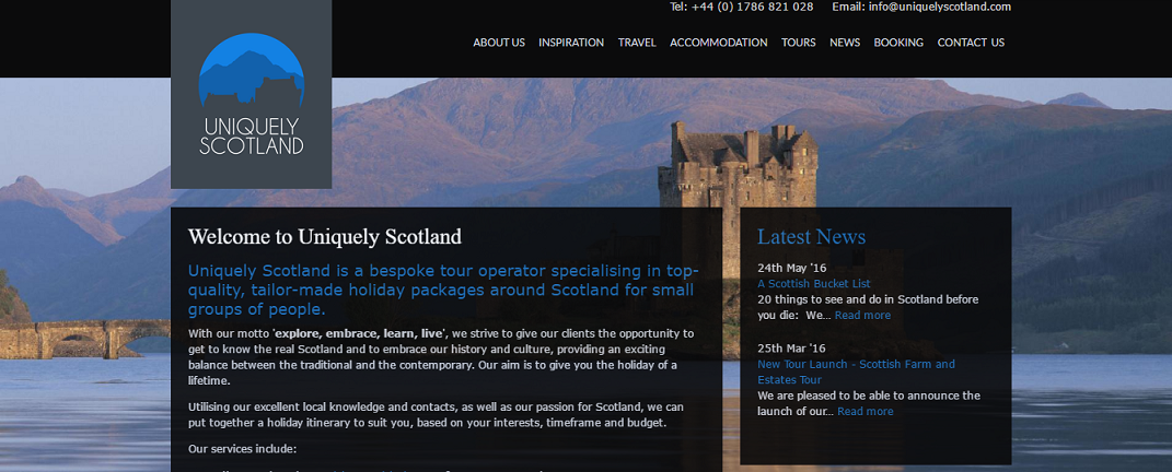 uniquely soctland, dmc and travel agency in scotland where justine is doing an internship